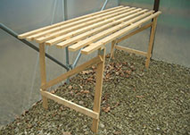 Trestle Staging Bench Wooden Garden Storage Shelf