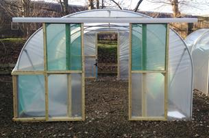 Double Sliding Door Kit & Polytunnel Doors Online | Double Sliding Doors Kit - Premier Polytunnels