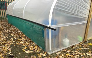 8ft Wide Allotment Polytunnel - Premier Polytunnels