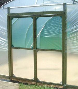 Double Door Upgrade & 12ft Wide Garden Polytunnel - Premier Polytunnels