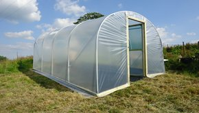 Polytunnel on a Slope